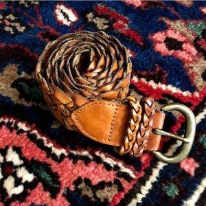 American Eagle   Women's Leather Braided Belt